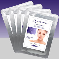 Legends Youthful 4-Pack of CBD Face Masks